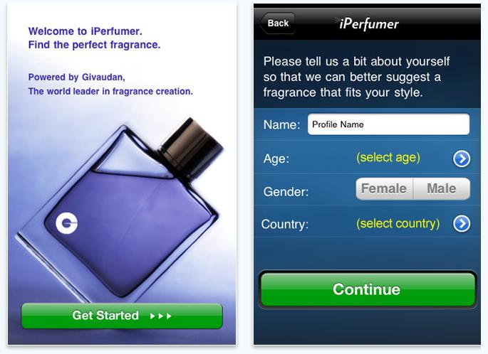 IPERFUMER beauty app smartphone itunes