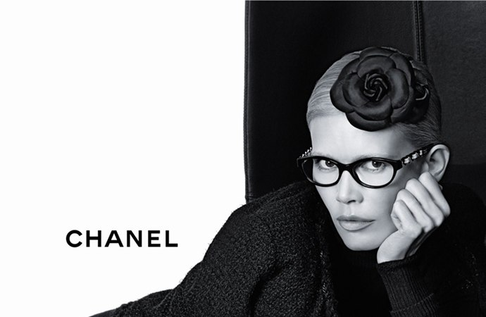 Chanel Brillen H/W 2011/2012 Claudia Schiffer