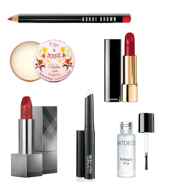 rote lippen_red lips_chanel_bobbi brown_burberry beauty_artdeco_mac