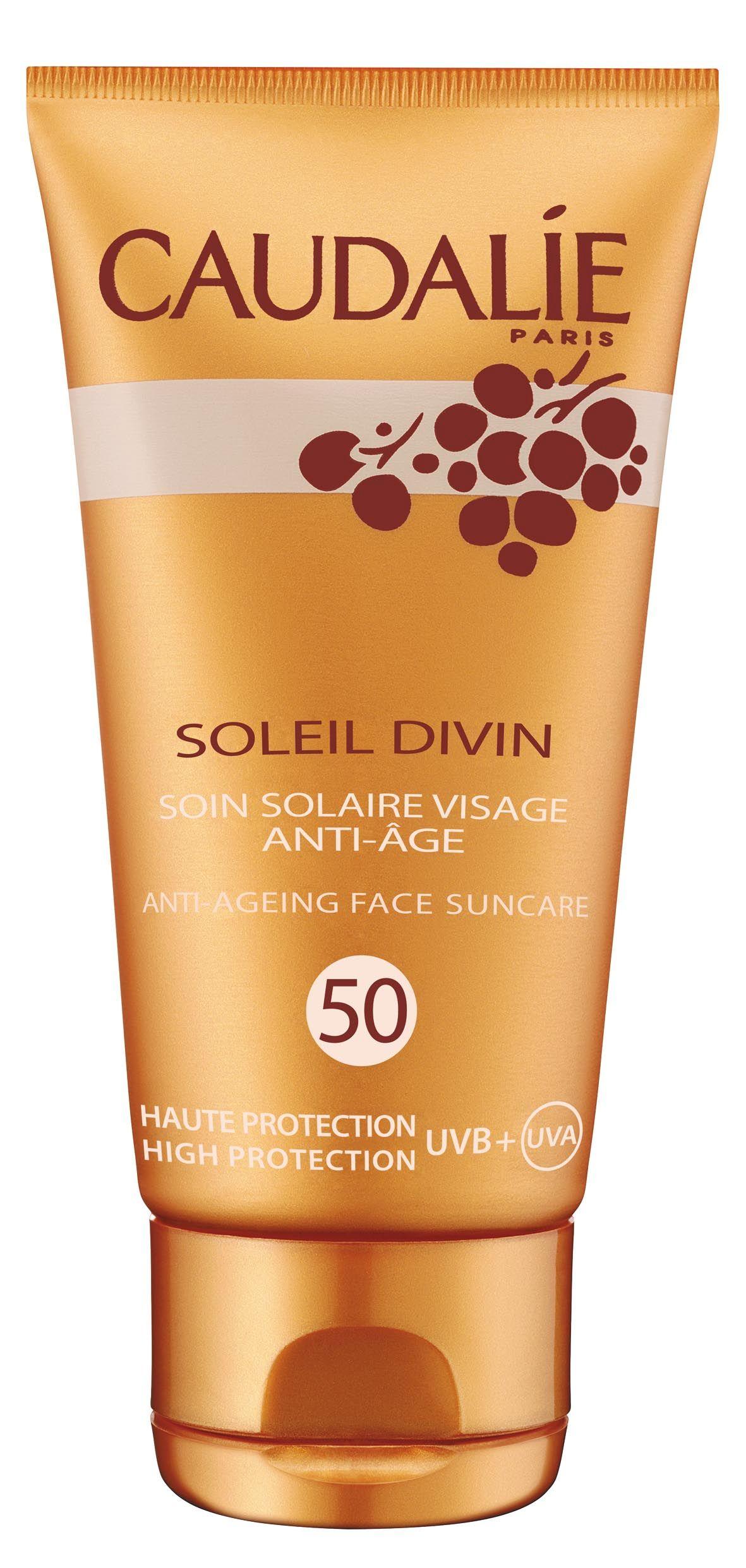 Caudalie Soleil Divin Anti Age Gesicht Sonnenpflege LSF 50