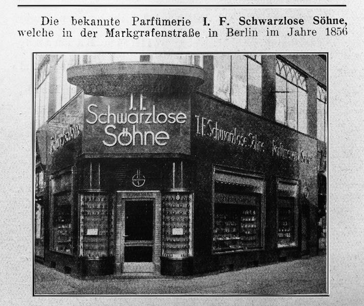J.F. SCHWARZLOSE Ladenlokal 1856