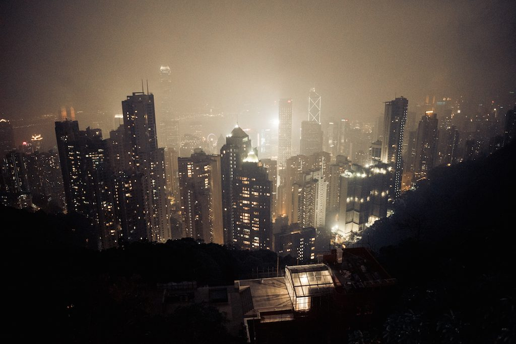Hongkong View Skyline by night