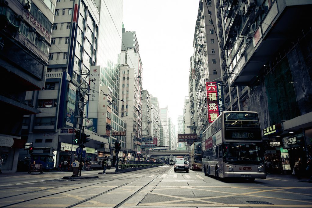 Hongkong City Traffic Street View
