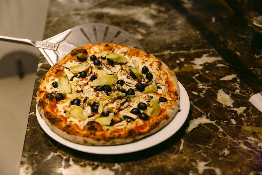 Pizza OLIVA mediterran