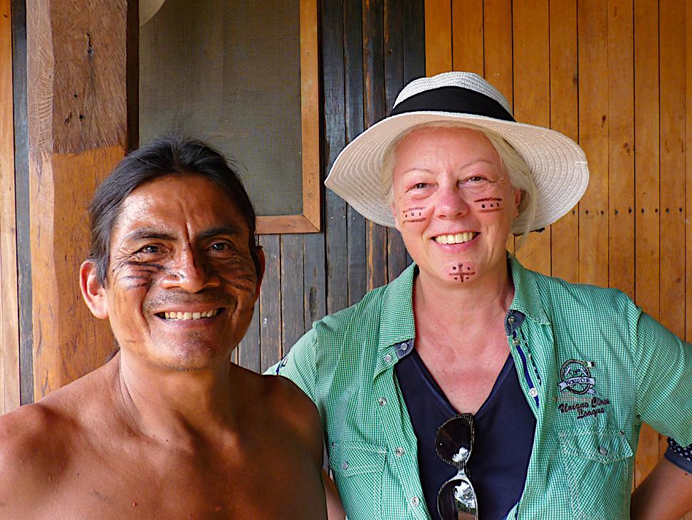 Margot Esser im Amazonas