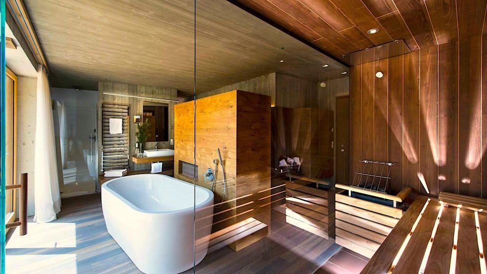 Panorama Suite Deluxe Sauna_Valserhof